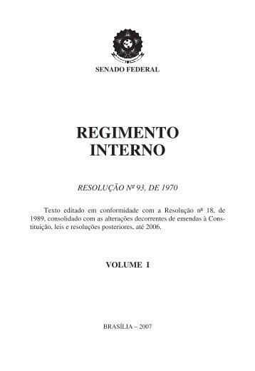 Regimento Interno do Senado Federal