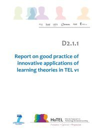 D2.2.1_HOTELReport on good practice of innovative applications of learning theories in TEL final