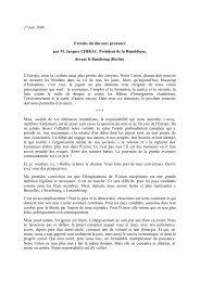 27 juin 2000 Extraits du discours prononcé par M. Jacques CHIRAC ...