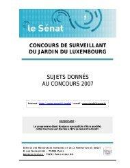 Annales concours - Sénat