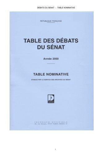 2000 - Sénat
