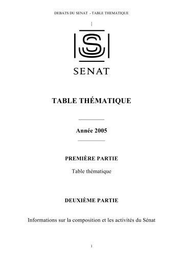 2005 - Sénat