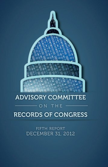 25. advisory committee records of congress - U.S. Senate