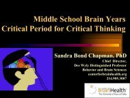 Middle School Brain Years - Senate