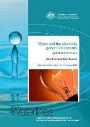 Water and the Electricity Generation Industry, Australia ... - Senate