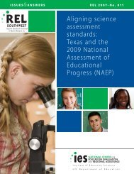 Aligning science assessment standards: Texas and the ... - Senate