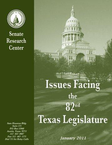 Issues Facing the 82nd Legislature - Senate