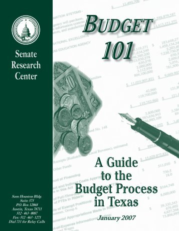 A Guide to the Budget Process in Texas - Senate
