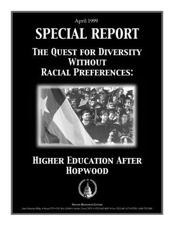 Higher Education After Hopwood - Senate