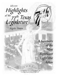 Highlights 77th Texas Legislature - Senate - Page 3