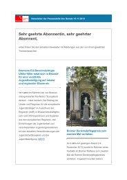 Newsletter vom 15. November 2013 - Senatspressestelle - Bremen