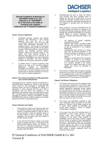 General Conditions of Business for IT Services