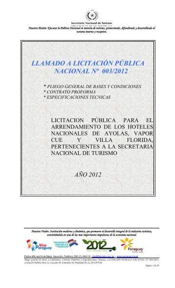 PRESIDENCIA DE LA REPUBLICA DEL PARAGUAY - Secretaría ...
