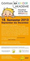 18. Semester 2013 - Senckenberg Museum
