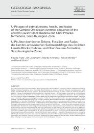 U-Pb ages of detrital zircons, fossils, and facies of the Cambro ...