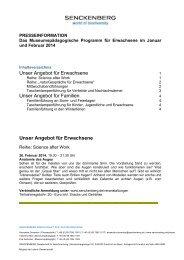 Downoad Gesamtprogramm Erwachsene Januar ... - Senckenberg