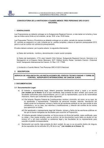 1 CONVOCATORIA DE LA INVITACION A CUANDO ... - Seneam