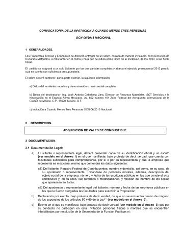 convocatoria para la licitacion publica nacional presencial - Seneam