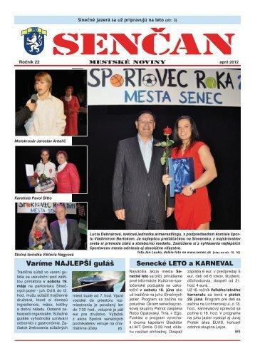 Spoločenská kronika - Mesto Senec