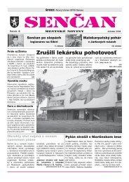 sencan marec 2005 indd - Mesto Senec