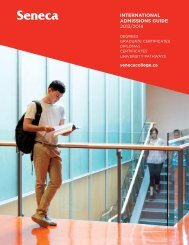 INTERNATIONAL ADMISSIONS GUIDE 2013/2014 - Seneca College