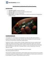 2013 Polytechnics Canada Raspberry Pi Case ... - Seneca College
