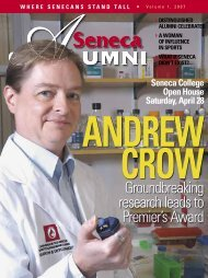 Groundbreaking research leads to Premier's Award - Seneca College
