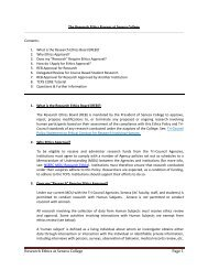 Research Ethics at Seneca College Page 1