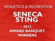 athletics & recreation 2012 award banquet winners - Seneca ...
