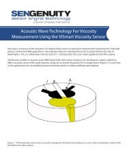 Acoustic Wave Technology For Viscosity Measurement ... - SenGenuity
