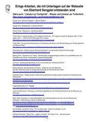 Arbeiten - die mit Unterlagen der Webseite Sengpielaudio entstanden