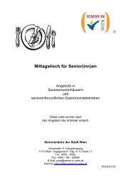 Mittagstisch für Senior(inn)en - Fonds Soziales Wien