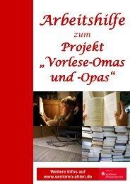 Arbeitshilfe Vorlese-Omas und -Opas - Senioren Ahlen