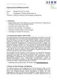 Protokoll_SINN-Netzwerktreffen_05 12 2011_zwv - Senioren Ahlen
