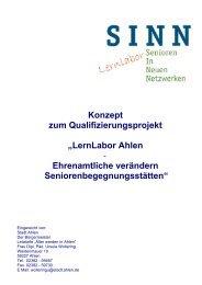 """Konzept zum Qualifizierungsprojekt """"LernLabor ... - Senioren Ahlen"""