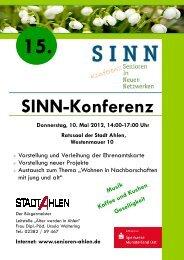 15 SINN-Konferenz_Info Flyer_A4_dt tr - Senioren Ahlen