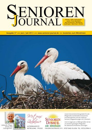 Ausgabe 37 - Juni / Juli 2013 - Senioren Journal