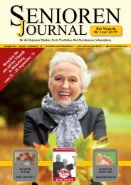 Ausgabe 26 - Aug. / Sept. 2011 - Senioren Journal