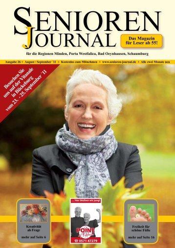 Ausgabe 26 - Aug. / Sept. 2011 - Senioren Journal