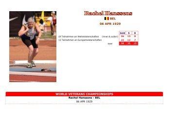 Hanssens, Rachel - Senioren Leichtathletik