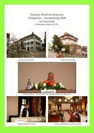 Senioren Plattform Bodensee Delegierten - Versammlung 2008 in ...