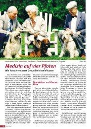 Medizin auf vier Pfoten - Senioren Zeitschrift Frankfurt