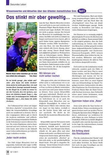 Schmecken und Riechen, Teil 1 - Senioren Zeitschrift Frankfurt
