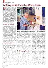 Zeitlos praktisch: die Frankfurter Küche - Senioren Zeitschrift Frankfurt