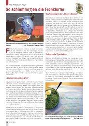 So schlemm(t)en die Frankfurter - Senioren Zeitschrift Frankfurt
