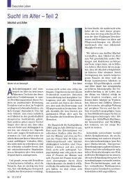 Sucht im Alter – Teil 2 - Senioren Zeitschrift Frankfurt