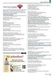 Tipps und Termine - Senioren Zeitschrift Frankfurt