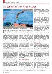 Die perfekte Fitness-Welle im Alter - Senioren Zeitschrift Frankfurt