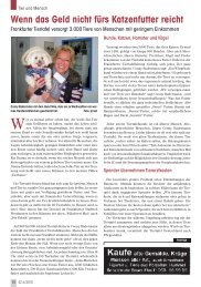 Frankfurter Tiertafel - Senioren Zeitschrift Frankfurt