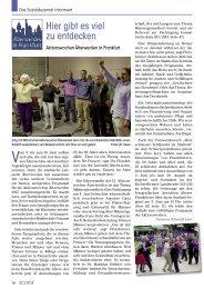Hier gibt es viel zu entdecken - Senioren Zeitschrift Frankfurt